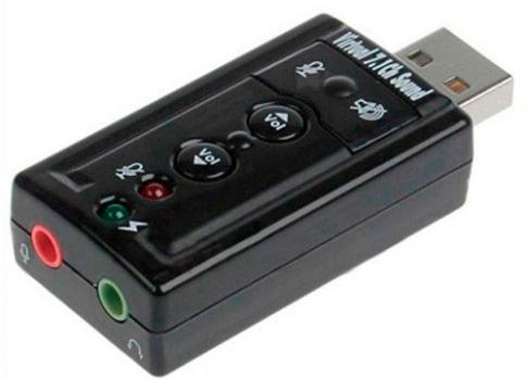 Внешняя звуковая 7.1 USB карта - адаптер