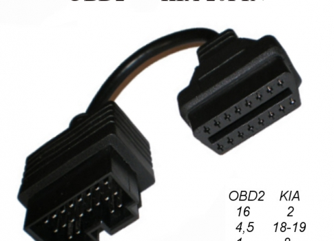 Переходник OBD II Female -  KIA 20 pin